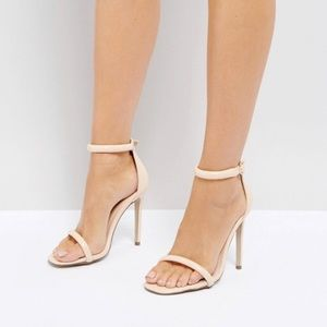 Missguided Barely There Ankle Strap Sandals